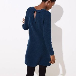 LOFT tie back sweater dress
